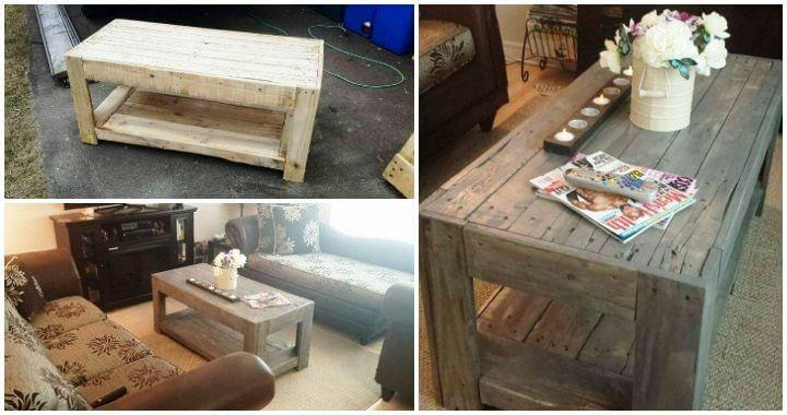 Easy Coffee Table.Diy Wood Pallet Coffee Table Easy Pallet Ideas