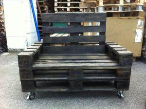 DIY Black Stained Pallet Chair