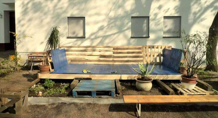 recycled pallet deck renovation