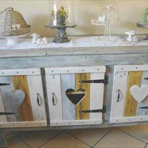 recycled pallet kitchen cabinet