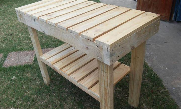 Pallet Kitchen Island Or End Table Easy Pallet Ideas
