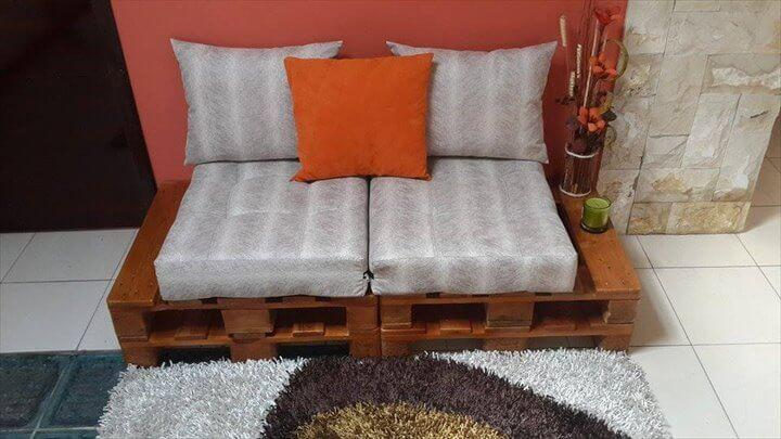 handcrafted pallet mudroom bench