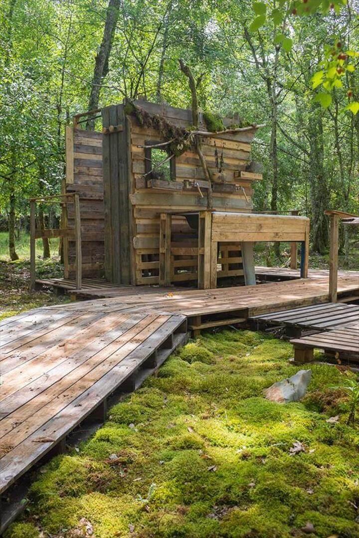 recycled pallet outdoor or garden bath