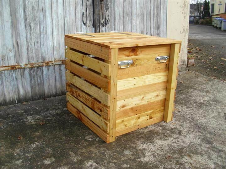 recycled pallet toy chest