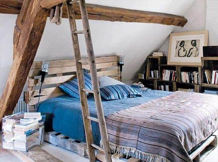vintage inspired pallet bed