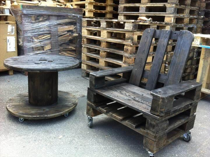 whole pallet rolling chair