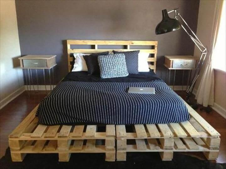 Marvelous 100 Diy Recycled Pallet Bed Frame Designs Page 2 Of 6 Home Interior And Landscaping Ymoonbapapsignezvosmurscom
