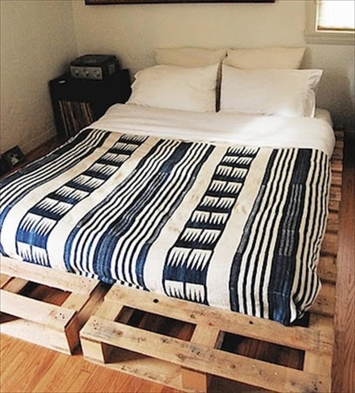 free pallet platform bed design