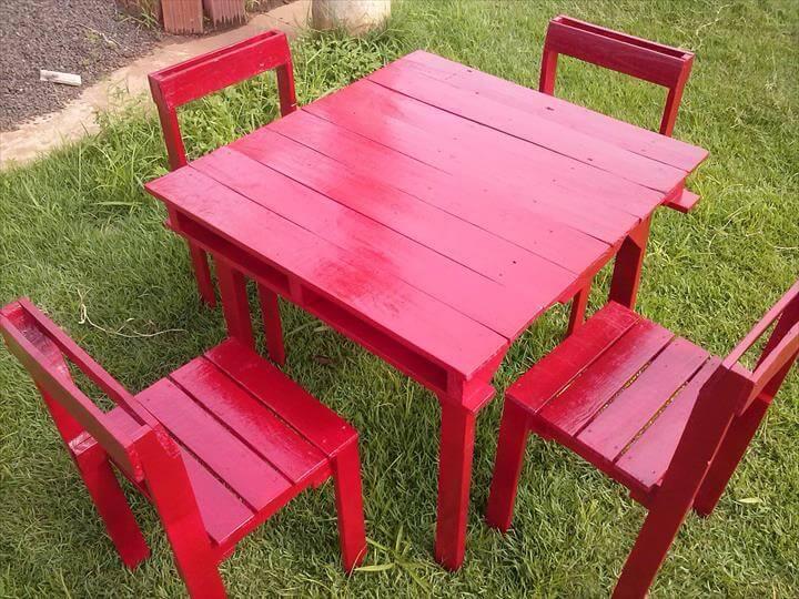 reclaimed pallet outdoor sitting furniture set
