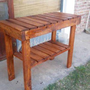 repurposed pallet kitchen table