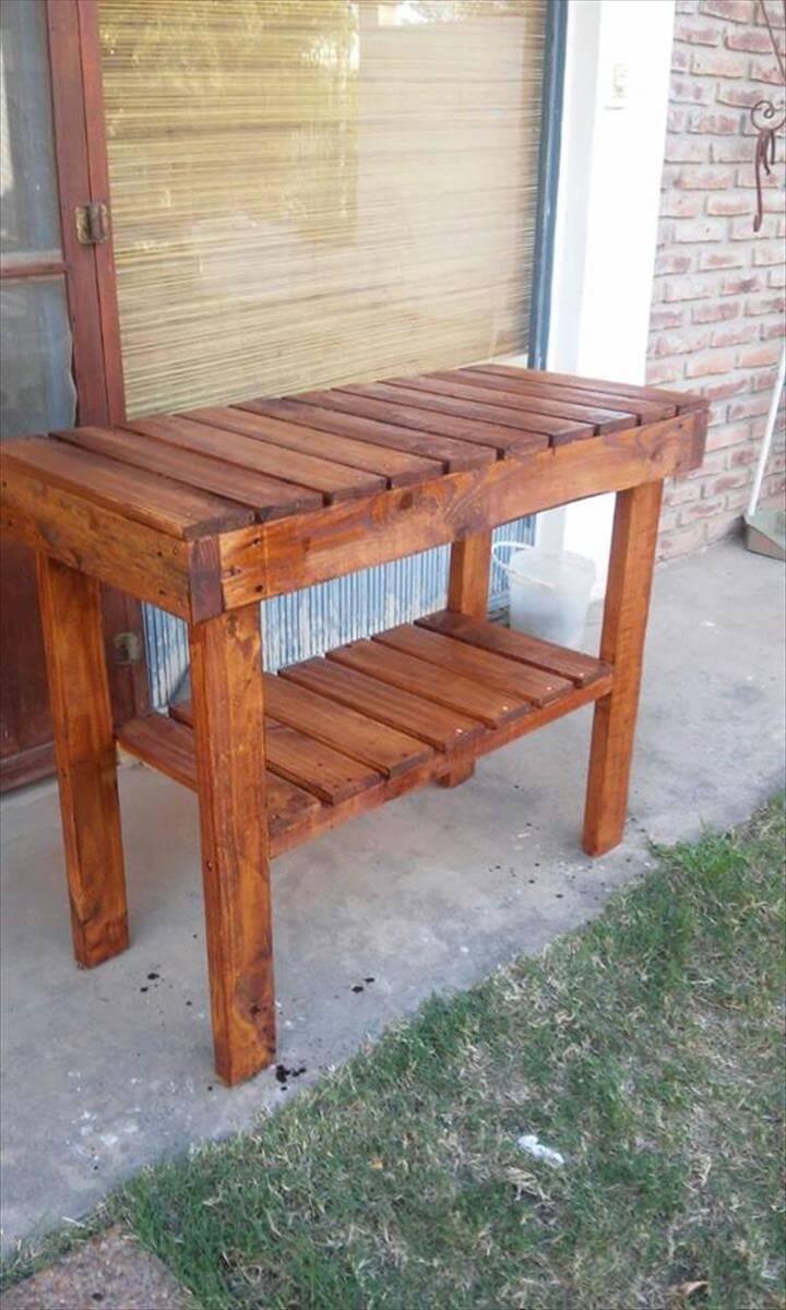 repurposed pallet kitchen table