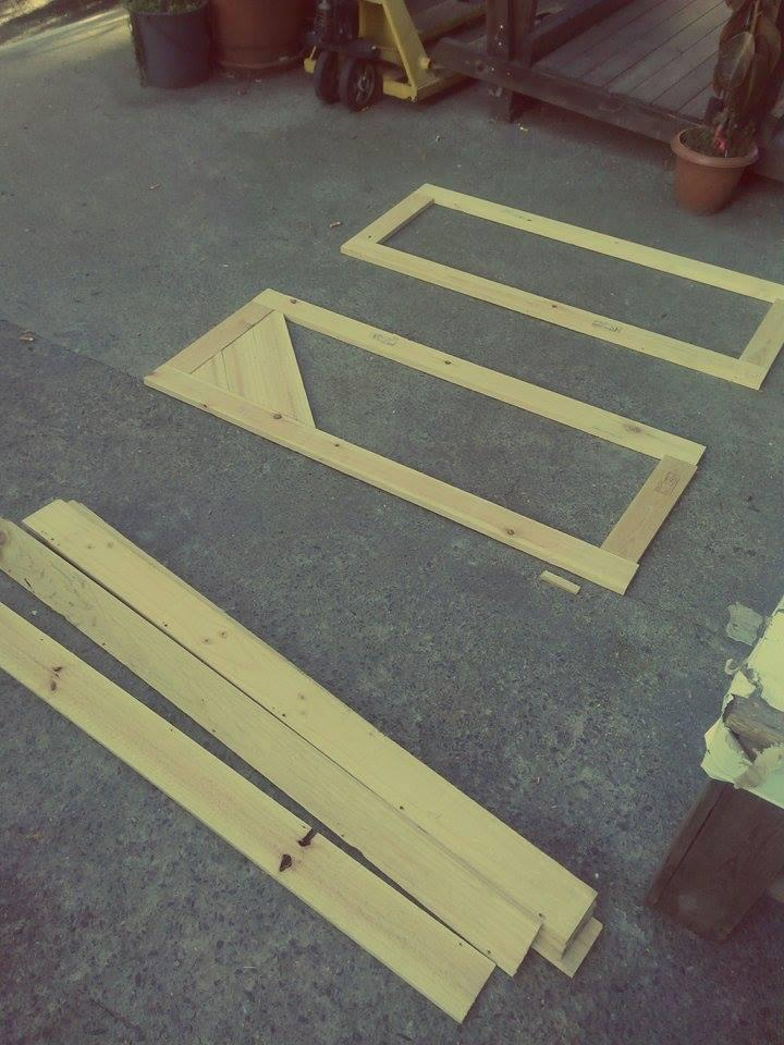 making the cabinet doors