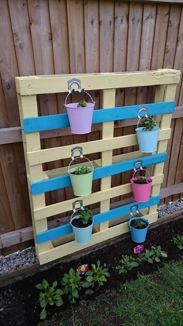 repurposed pallet herb planter