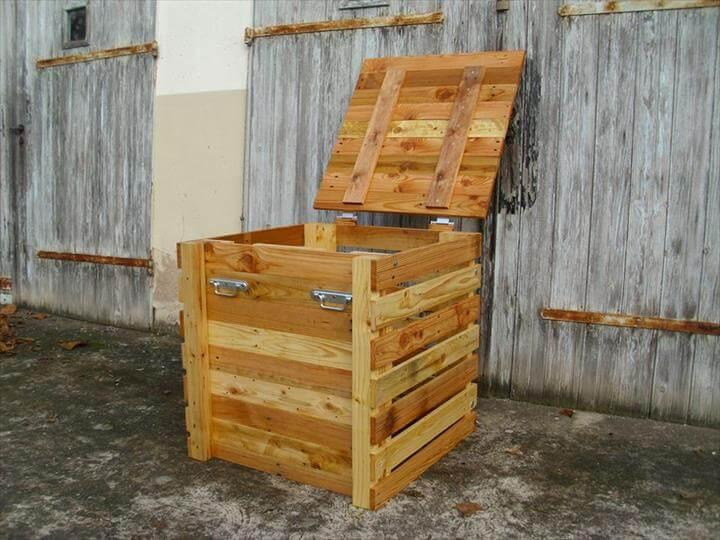reclaimed pallet storage chest