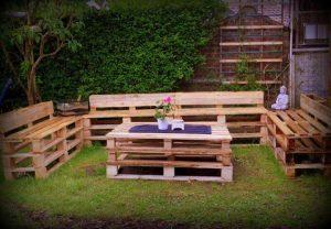 reclaimed pallet outdoor sitting furniture set
