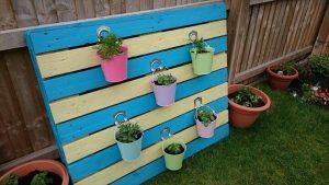 diy painted pallet herb planter