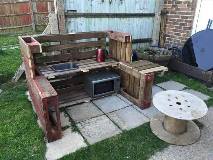 upcycled pallet mud kitchen