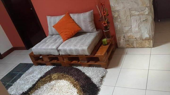 diy pallet entryway bench with cushion