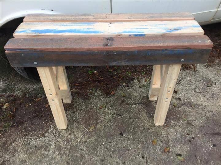 upcycled pallet sturdy pallet patio table
