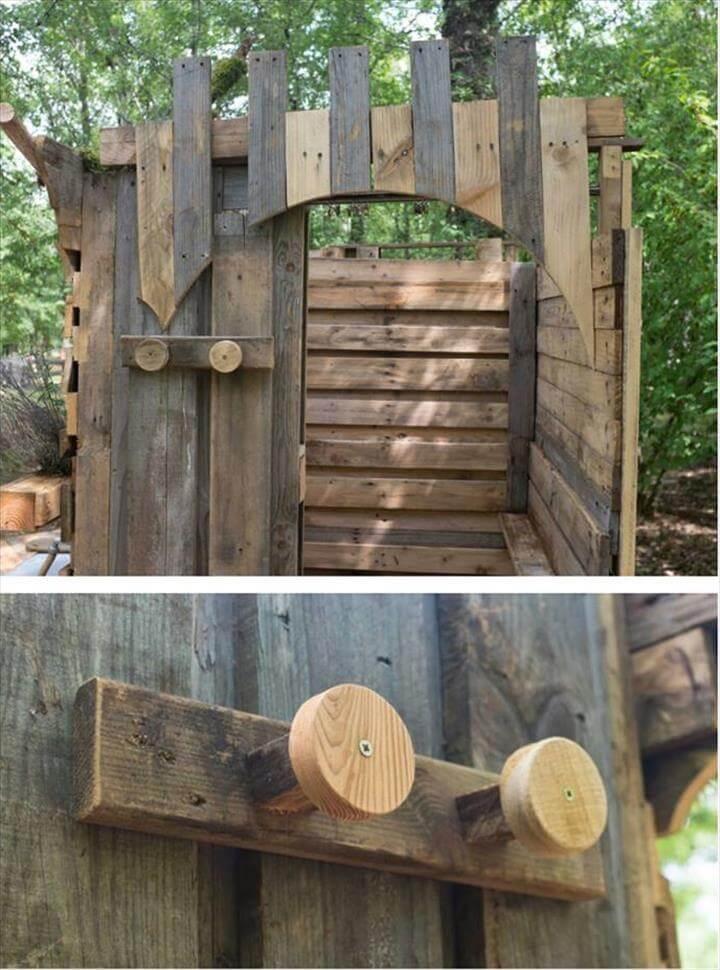 rustic pallet outdoor bath coat rack