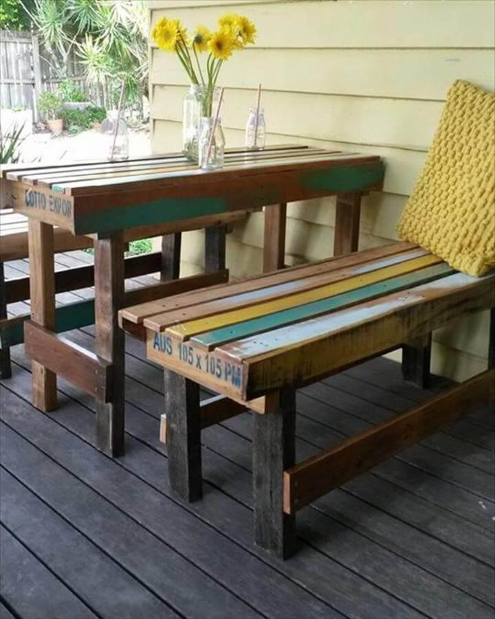 recycled pallet outdoor sitting furniture