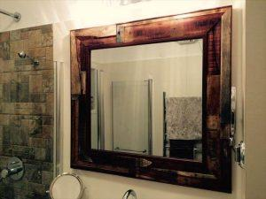 reclaimed pallet wall mirror