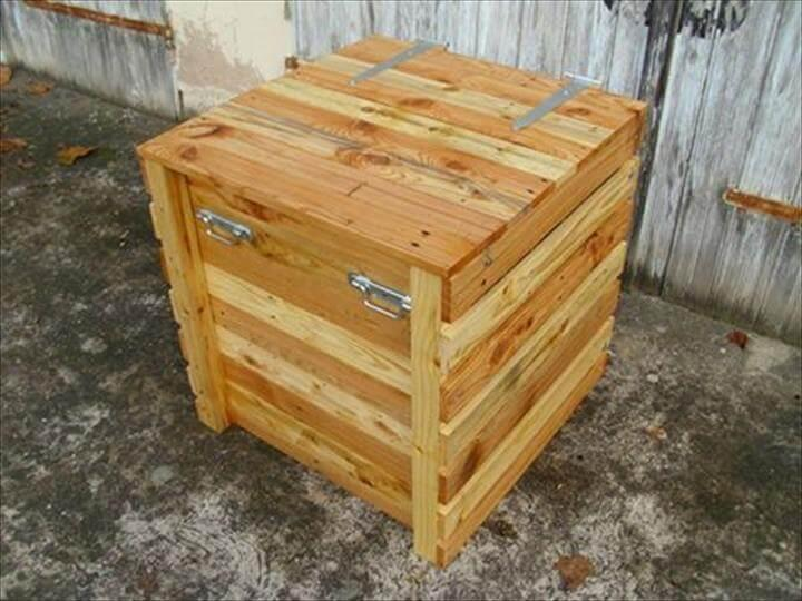 upcycled pallet storage box