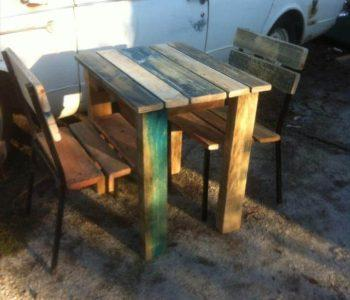 diy pallet outdoor breakfast furniture set