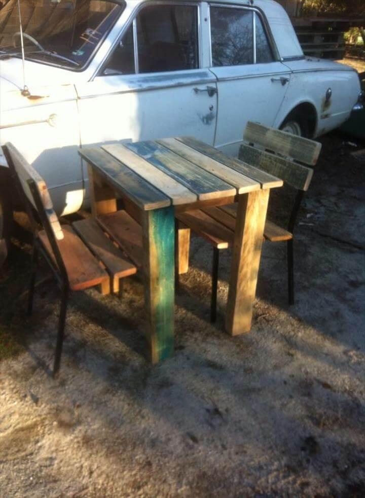 diy pallet outdoor breakfast furniture set