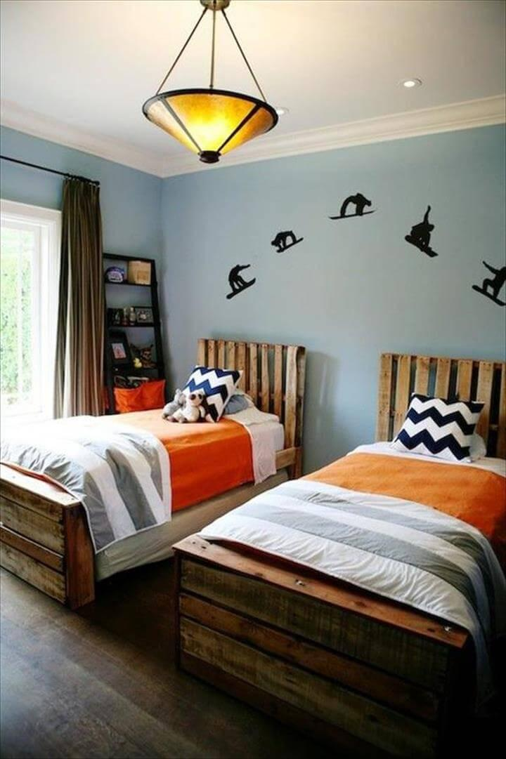 100 Diy Recycled Pallet Bed Frame Designs Easy Pallet Ideas
