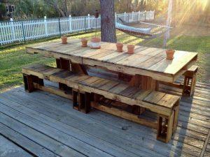 reclaimed pallet outdoor dining furniture
