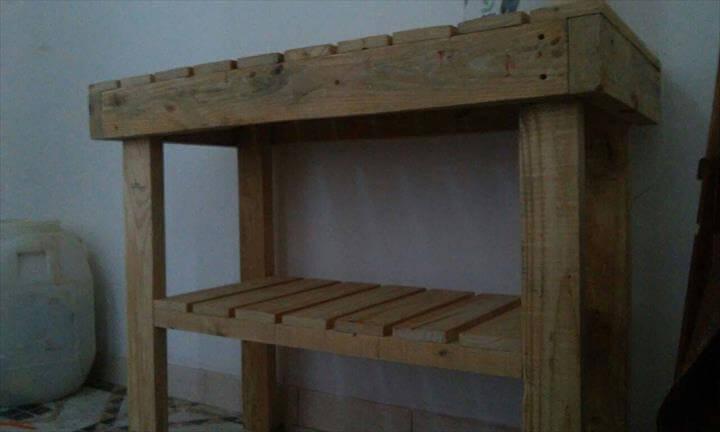 rustic pallet wood kitchen island