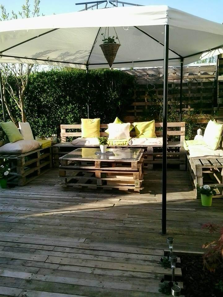 salvaged pallet gazebo furniture