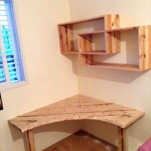 upcycled pallet sectional desk