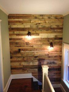diy accent pallet upstairs wall
