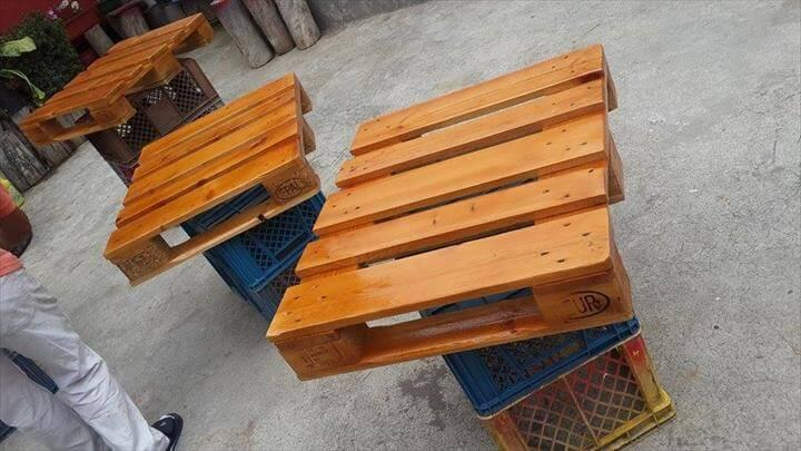 hand staining of pallets