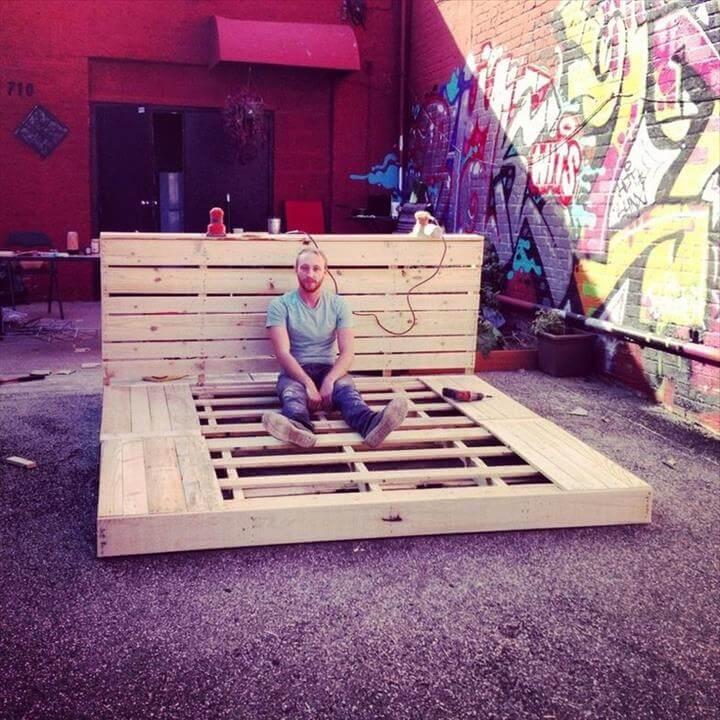 sturdy pallet platform bed