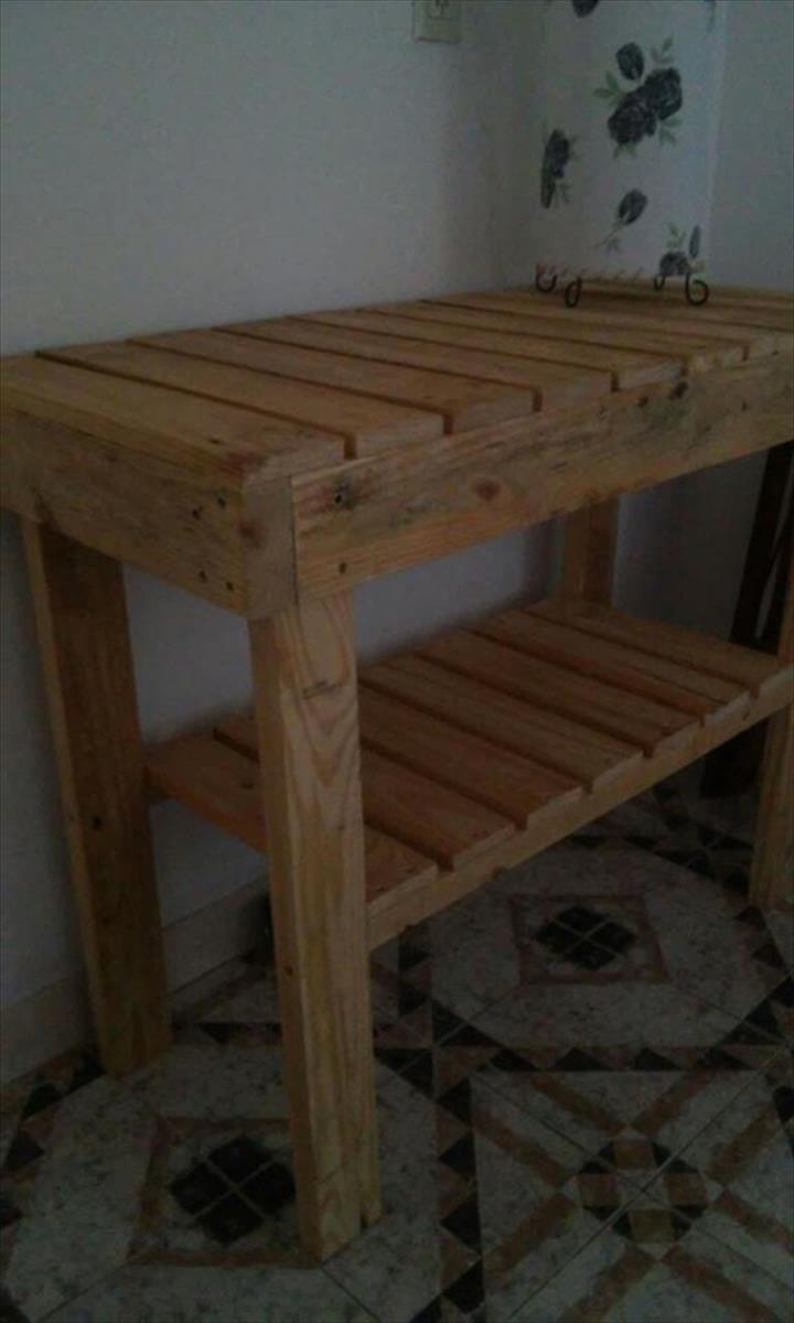 handmade wooden kitchen island