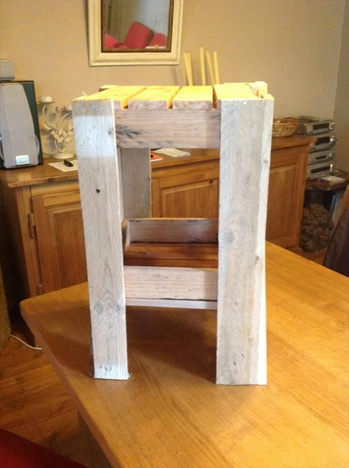 rustic yet modern pallet side table