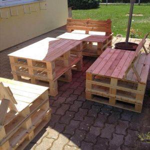 repurposed wooden pallet outdoor sitting furniture