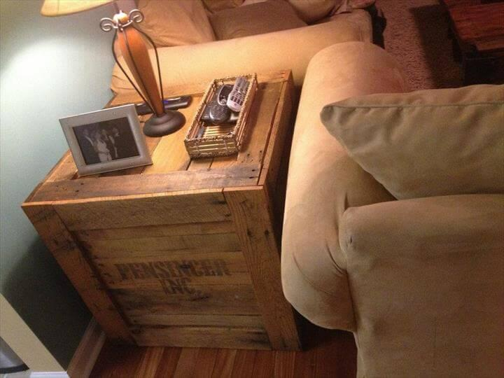 diy pallet rustic side table