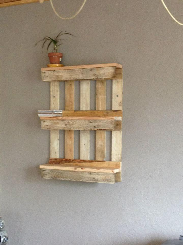 Bookshelf Out Of Pallets Easy Pallet Ideas