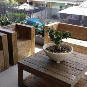 recycled pallet beefy terrace furniture set
