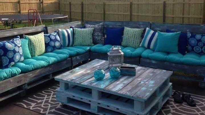 free whole pallet boards sectional sofa