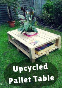DIY Pallet Coffee Table with Planter Box Inlay