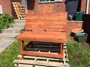 repurposed pallet outdoor and garden bench