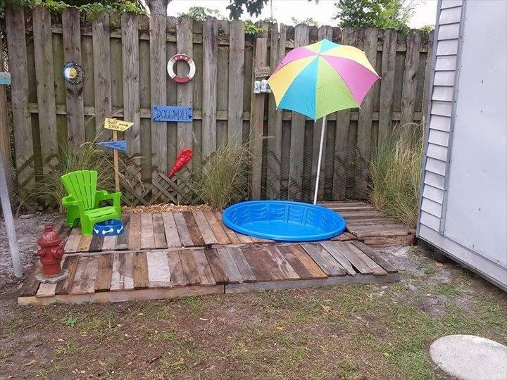 reclaimed pallet doggie pool