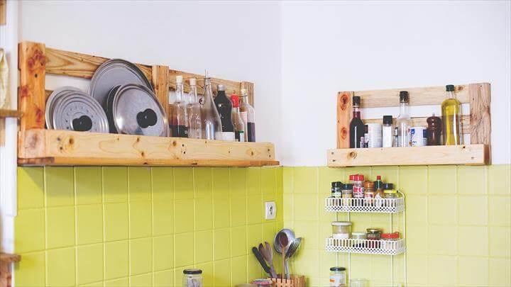 pallet kitchen shelves made of pallets