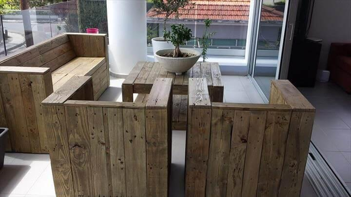 sturdy pallet patio furniture set