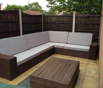 repurposed whole pallet corner sofa